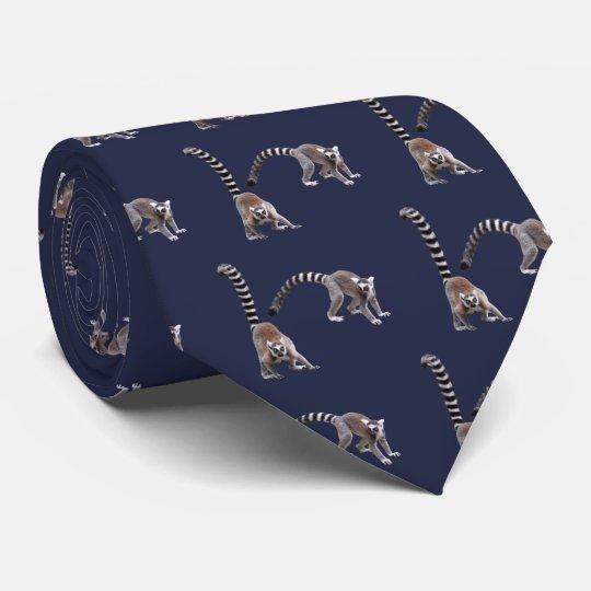 Ring-tailed lemur ネクタイ