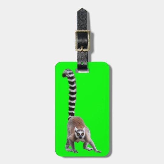 Ring-tailed lemur ラゲッジタグ