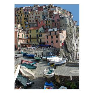 Riomaggioreの村イタリアCinque Terre ポストカード
