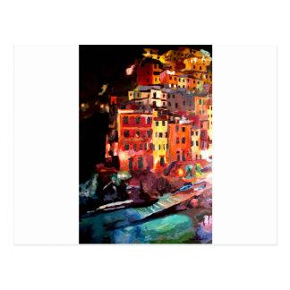 RiomaggioreのCinque魔法のTerre夜 ポストカード