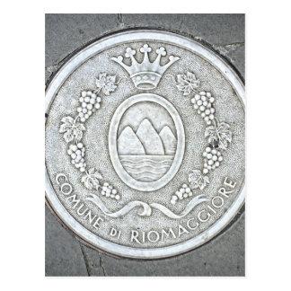 Riomaggiore、イタリア- Cinque Terreの郵便はがき ポストカード