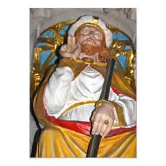 Riponのカテドラルの招待状の宗教彫像 カード