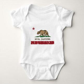 riponカリフォルニア州の旗 ベビーボディスーツ