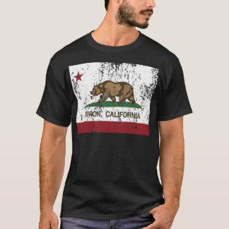 riponカリフォルニア州の旗 tシャツ