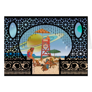 Risaの挨拶の惑星間旅行の月 カード