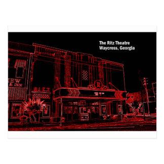 RITZの劇場- WAYCROSS、ジョージア ポストカード