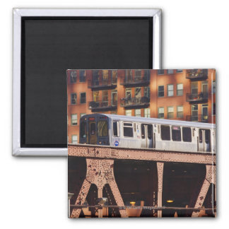 Riverbendのシカゴの列車 マグネット