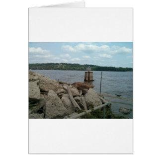 Riverwalk Dubuqueアイオワミシシッピー川 カード