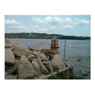 Riverwalk Dubuqueアイオワミシシッピー川 ポストカード