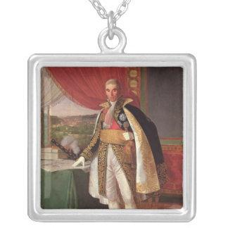 Rivoli 1814年の元帥のアンドレMassena公爵 シルバープレートネックレス