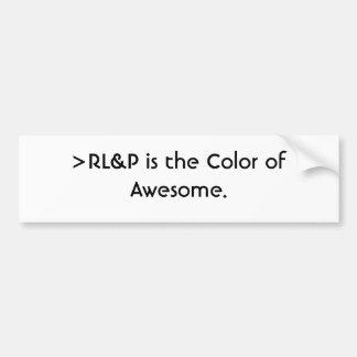 >RL&Pは驚くばかりの色です バンパーステッカー