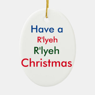 R'lyeh Lovecraftのクリスマスのオーナメント セラミックオーナメント