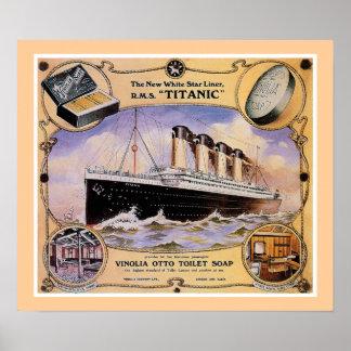 RMSの巨大なヴィンテージの石鹸の広告(キャンバス) ポスター