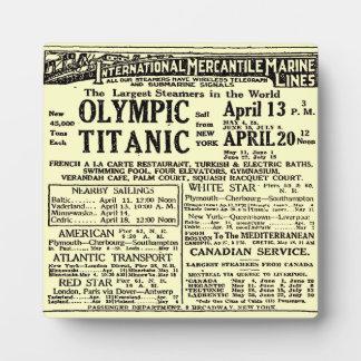 RMSの巨大な乗客はさみ金の新聞広告のプラク フォトプラーク