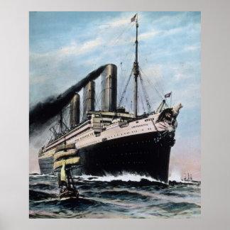 RMSの巨大な同世代の人SS Imperatorのヴィンテージ ポスター