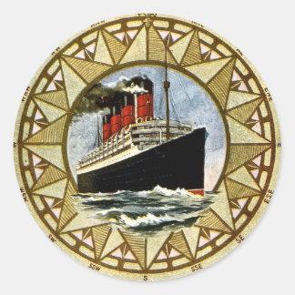 RMS BerengariaのヴィンテージのCunardライン ラウンドシール