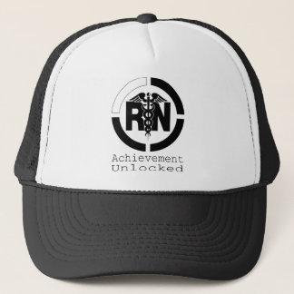RNの達成によって鍵を開けられる看護のトラック運転手の帽子 キャップ