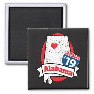 Roadtrip 「19アラバマ-正方形の磁石 マグネット