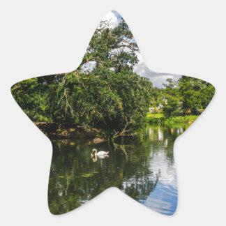 Roath park湖 星シール
