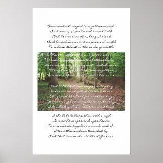 Robert Frost -取られない道 ポスター