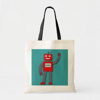 Robiレトロのロボットバッグ トートバッグ