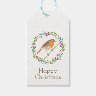 Robin the bird of Christmas ギフトタグ