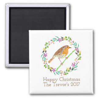 Robin the bird of Christmas マグネット
