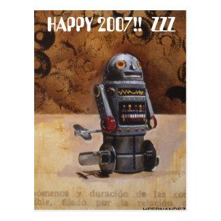 ROBOT2幸せな2007年!!  ZZZ ポストカード