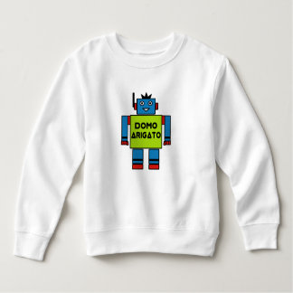 Roboto Toddler Fleece Sweatshirt Domo Arigatoの氏 スウェットシャツ