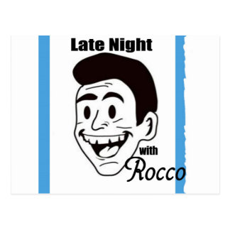Roccoショーのスワッグと夜遅く ポストカード