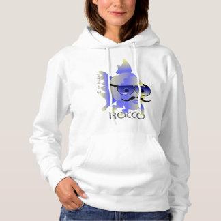 Rocco魚の女性の基本的なフード付きのスエットシャツ パーカ