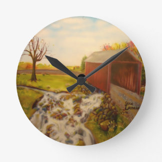 Rock Creekの道 ラウンド壁時計