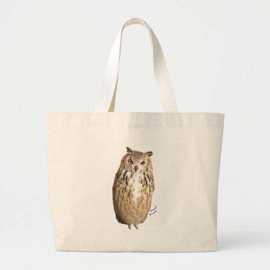 Rock eagle owl ラージトートバッグ
