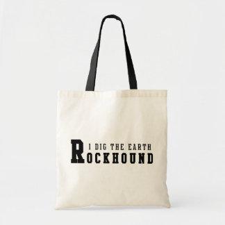 "Rockhound ""私は掘ります地球""を トートバッグ"