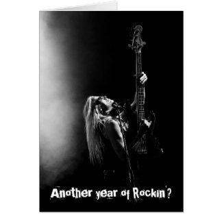 Rockinのベースギターのバースデー・カードの別の年 カード