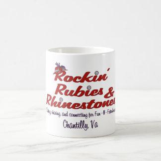 Rockinのルビー及びラインストーンの公式の章のマグ コーヒーマグカップ