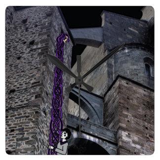 Rockinのワタリガラスのケルト語Rapunzel スクエア壁時計
