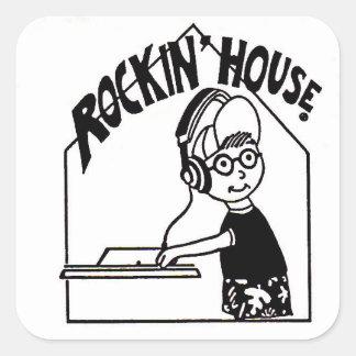 Rockinの家DJのステッカー スクエアシール