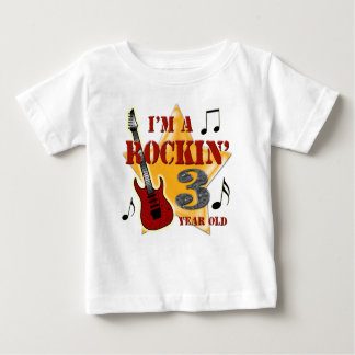 Rockinの年齢3 ベビーTシャツ