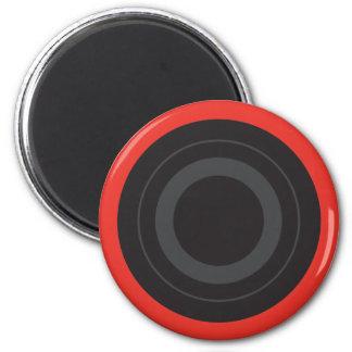 Rockinの赤いポップアートのローラーのダービーの車輪 マグネット