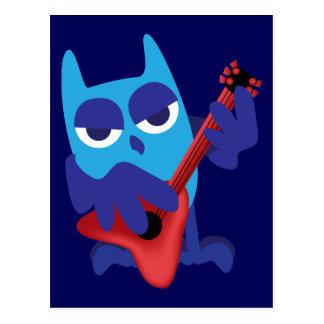 Rockinの青のフクロウ ポストカード