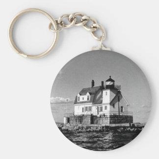 Rockland港の防波堤の灯台 キーホルダー