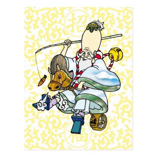 Rodeo Jurojin Newyears card ポストカード