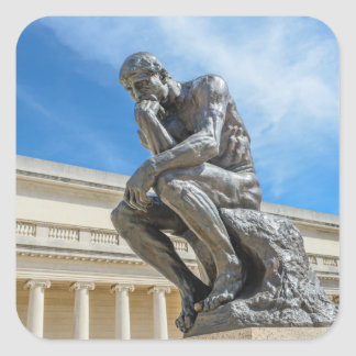 Rodinの思想家の彫像 スクエアシール