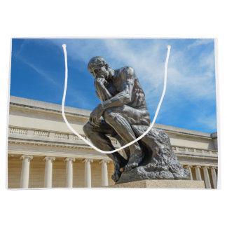 Rodinの思想家の彫像 ラージペーパーバッグ