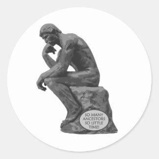 Rodinの思想家-そう多くの祖先 ラウンドシール