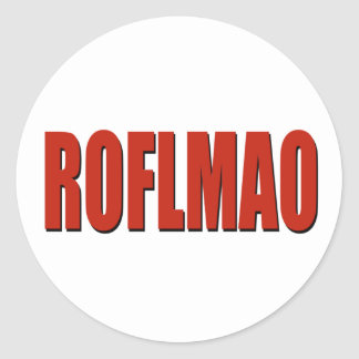 ROFLMAOの赤 ラウンドシール