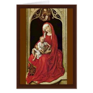 Rogier著キリストの子供(マドンナDuran)を持つメリー カード