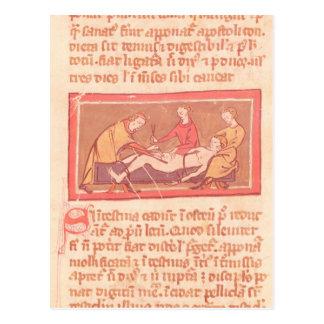 「Rogier de Salerne著外科の本」の版 ポストカード