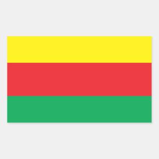 Rojavaのクルジスタンの旗のステッカー 長方形シール